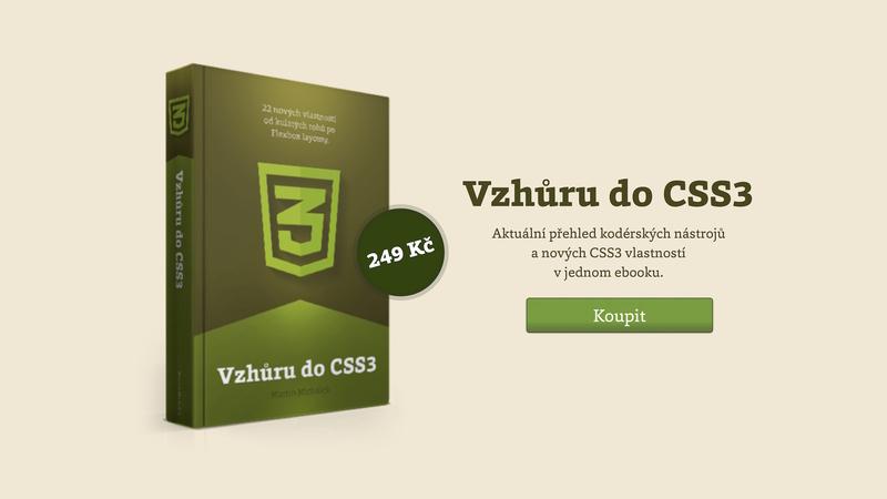 Ebook Vzhůru do CSS3